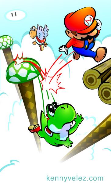Yoshi falling