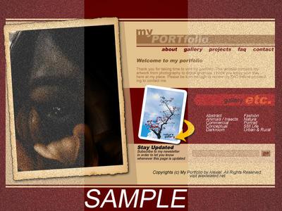 My Portfolio Webdesign by Alexielated