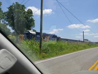 A three car maintenance train.