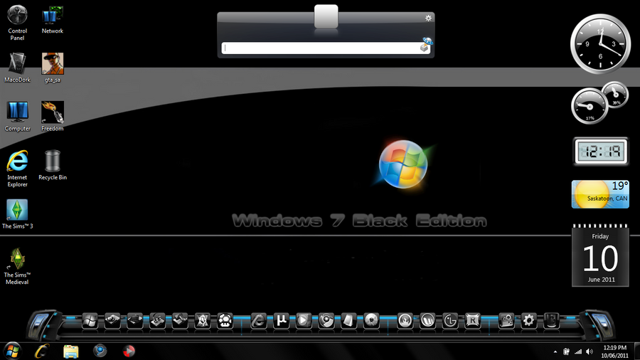 Windows 7 Black Edition by DroDork on DeviantArt