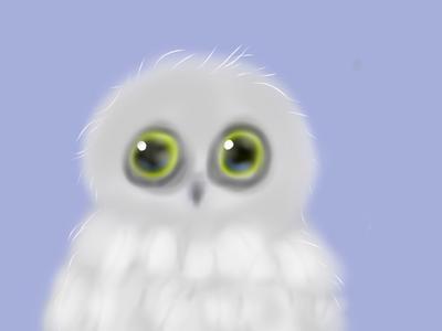 Baby snow owl by lunacrow14