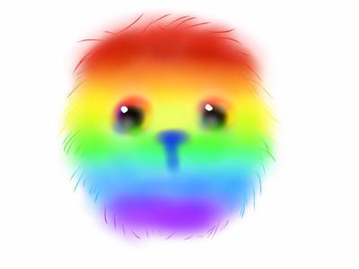 Puffy rainbow dude by lunacrow14