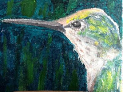 Hummingbird by lunacrow14