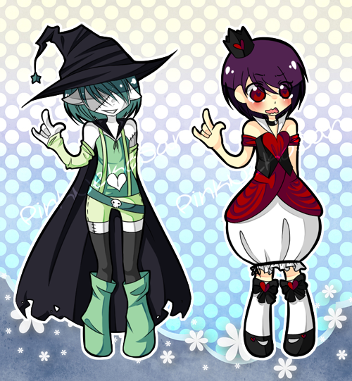Cash Adoptables - Witch and Queen by Asterranaut