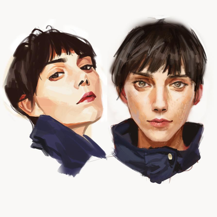Short Hair by alizawren