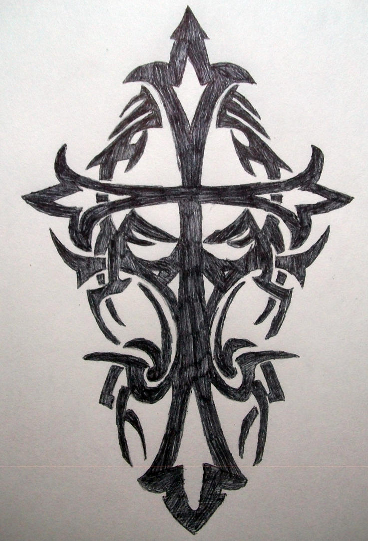 tribal cross wallpaper by - photo #16