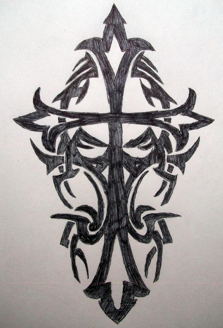tribal cross wallpaper by - photo #16