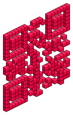 Love in Isometric 3D QR Code