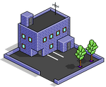 Isometic Pixel Art Building
