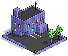 Isometic Pixel Art Building by ApprenticeOfArt
