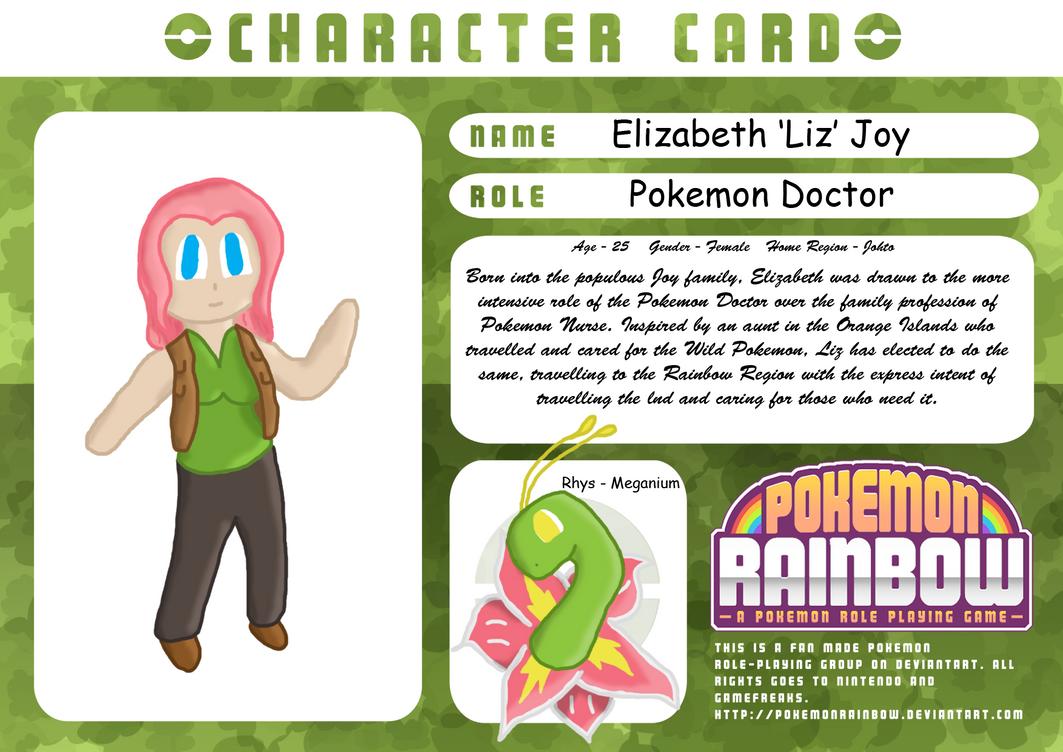 Elizabeth Joy - Character Application by RDSR