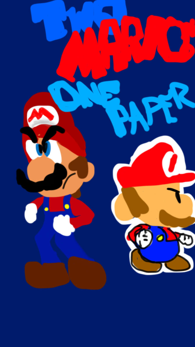 Two Marios One Paper Cover by Rickythecool