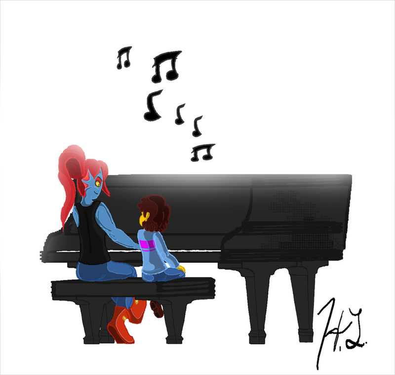 ''She's playing the piano...'' by xBubblez101x