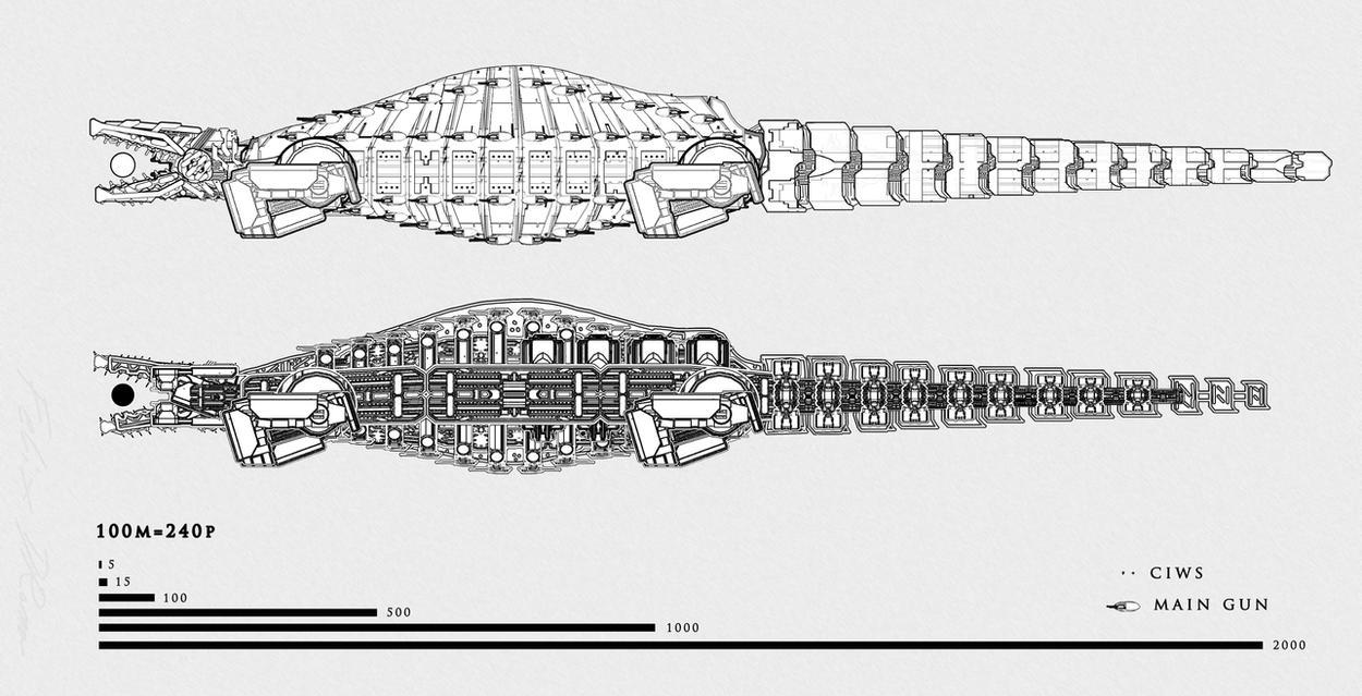 Tsviet_City-Eater class Destroyer Mk VII by Leonitus