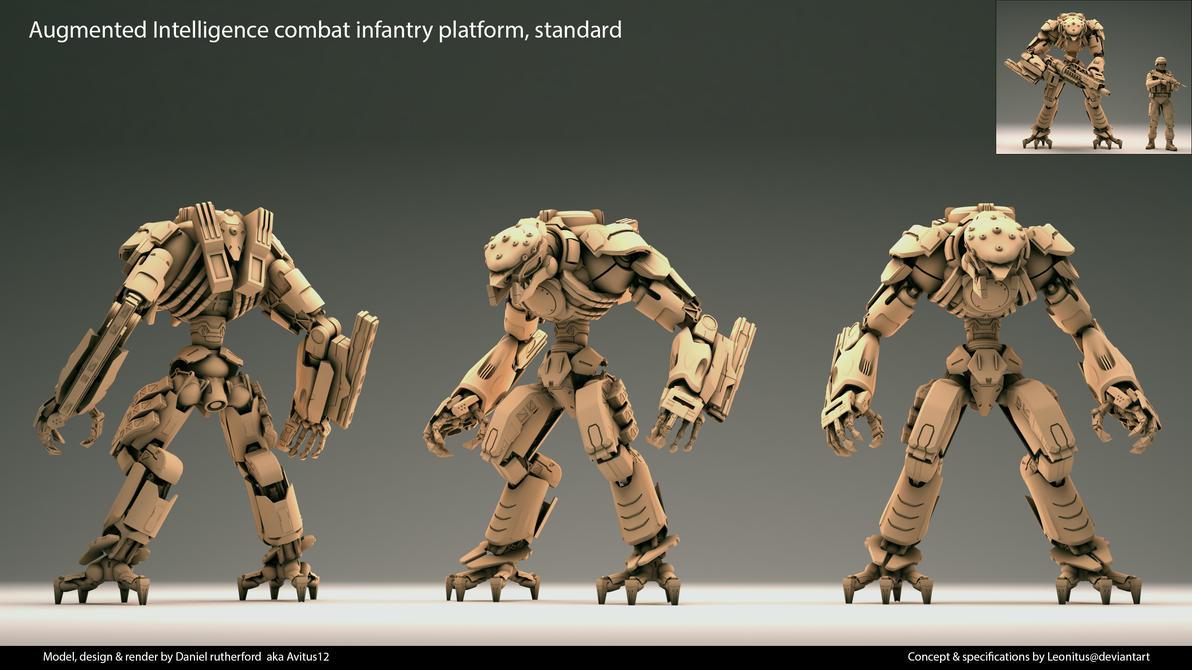 Tsviet military- Augmented Intelligence C.I.P v2 by Leonitus