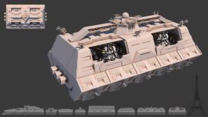 Tsviet military - War Train - MSV Heavy Transport