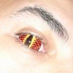 Red Dragon Sclera Lens by TrinaryOuroboros