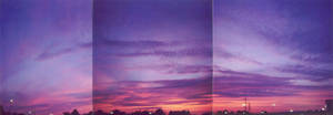 poorly done panoramic sunset