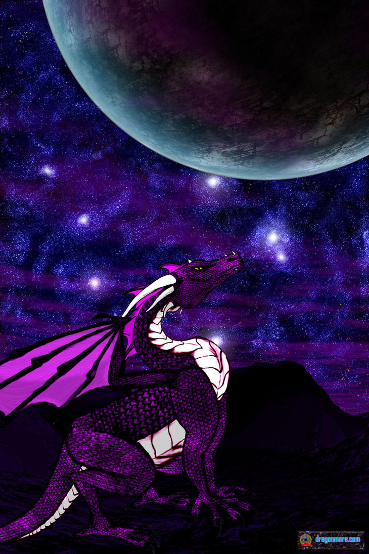 Alpha Draconis Nightsky by TrinaryOuroboros