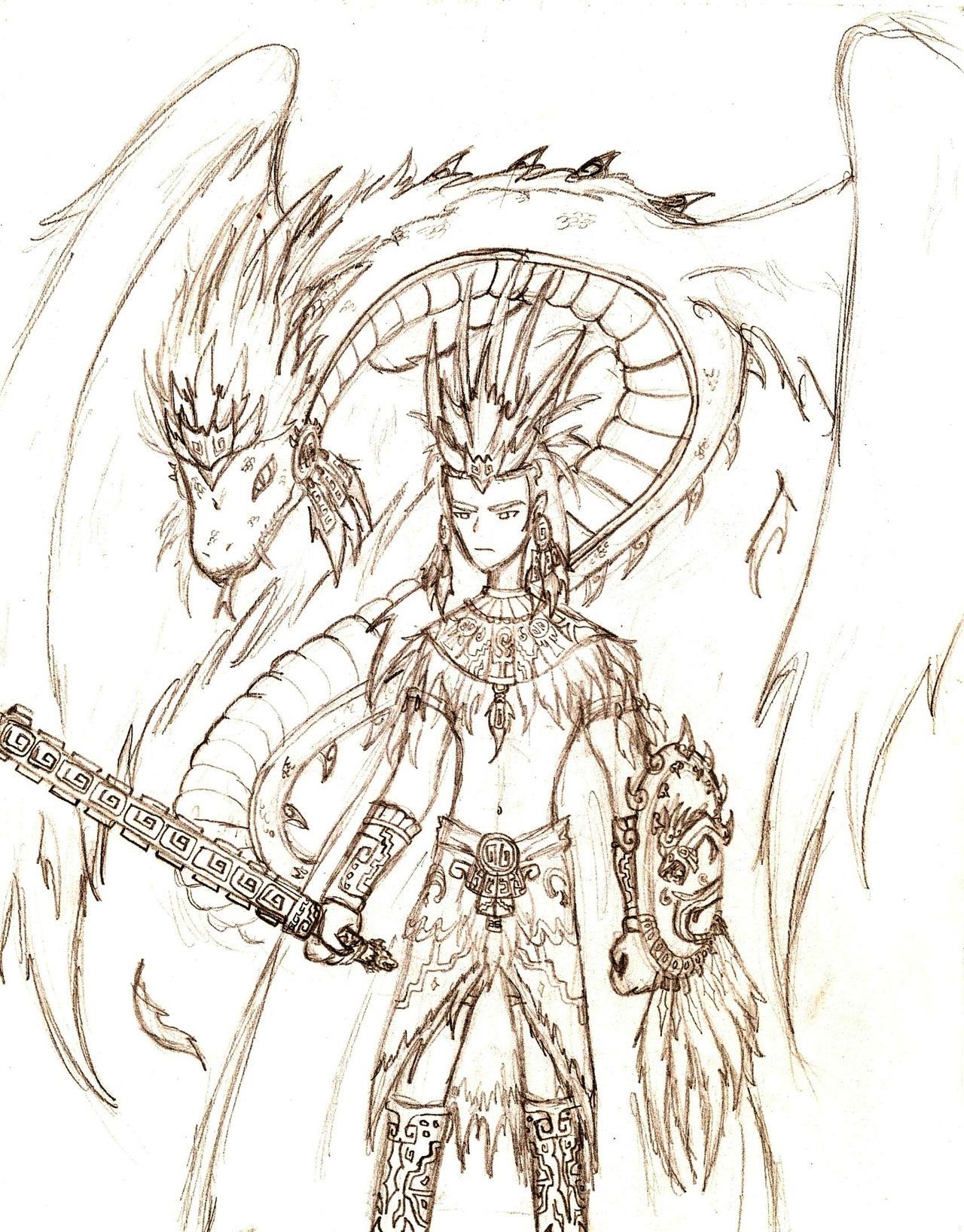 Aztec warrior of Quetzalcoatl by invader-phoebe on DeviantArt