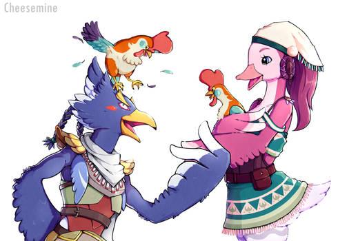Zelda Breath of the Wild Fanart - Revali and Fuwa