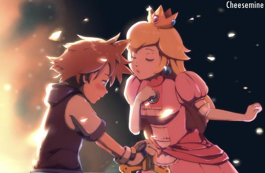 Smash Bros Ultimate Fanart - Sora and Peach