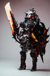 Rathalos female set cosplay - Monster hunter world by Ellothin