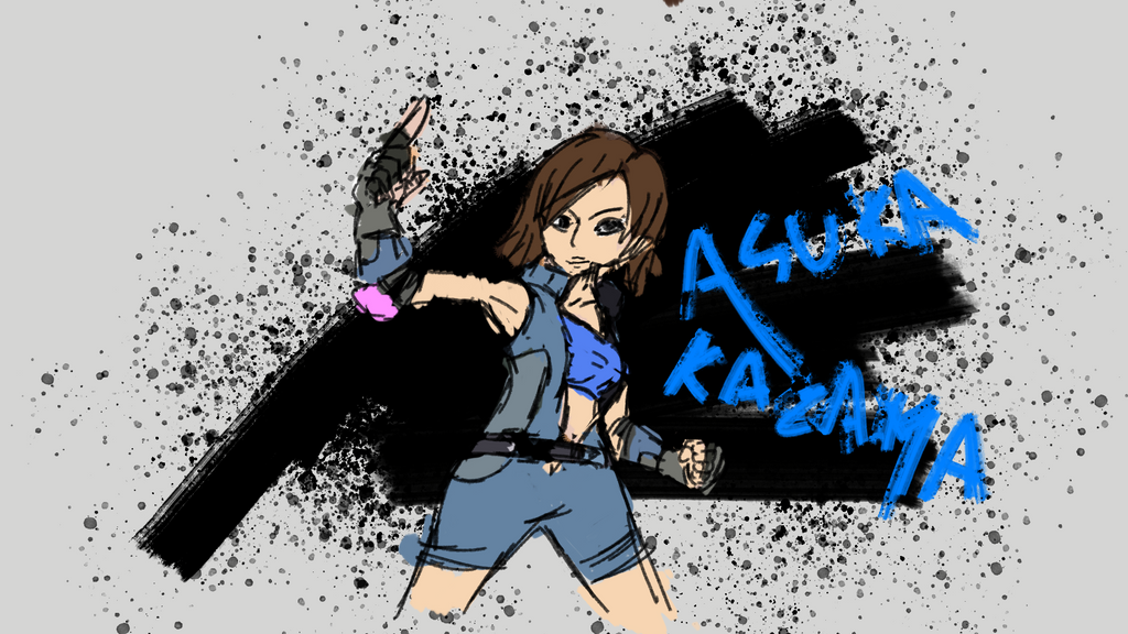 Some bad Asuka art by Kaxology