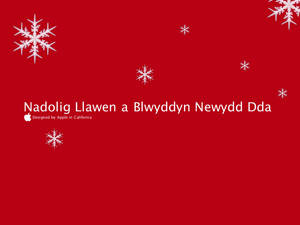 Merry Christmas in Welsh