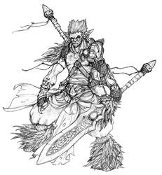 Half Orc-Elf by doggerman