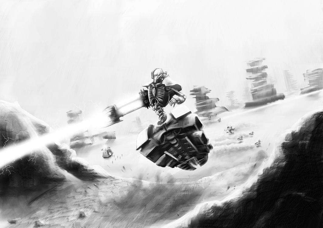 Wh40K: Necron Destroyer by StugMeister