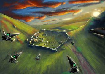 Wh40K: Eldar Jetbike Attack by StugMeister