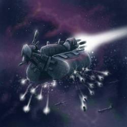 DSG1444:ChunkyButCoolSpaceShip by StugMeister