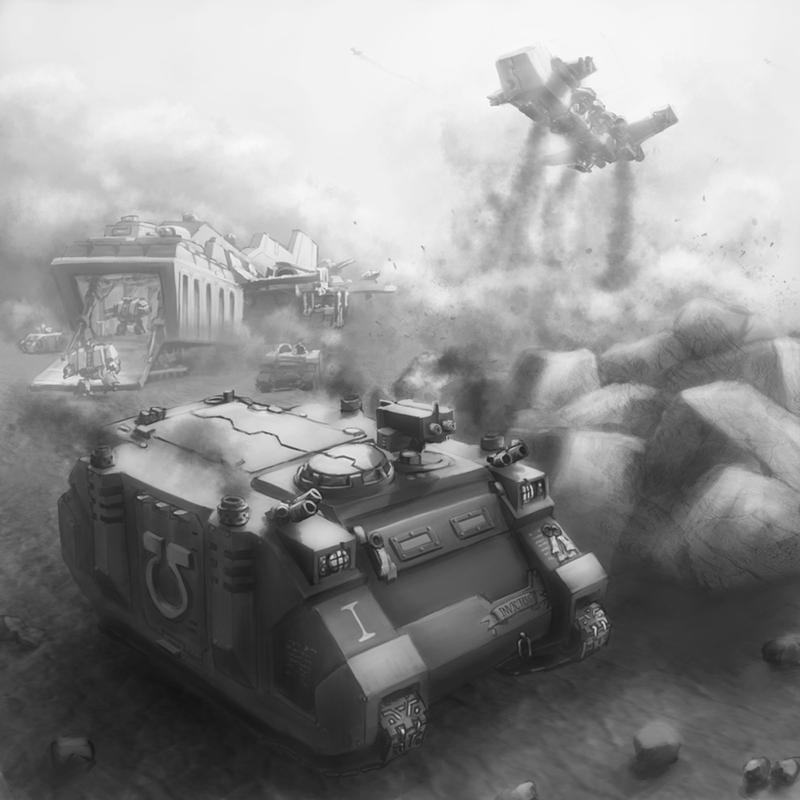 Wh40K: Rhino Deployment by StugMeister