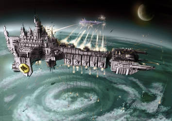 Wh40K: Battle Barge by StugMeister