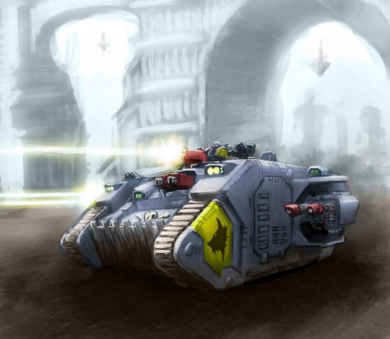 Wh40K: SW Land Raider by StugMeister