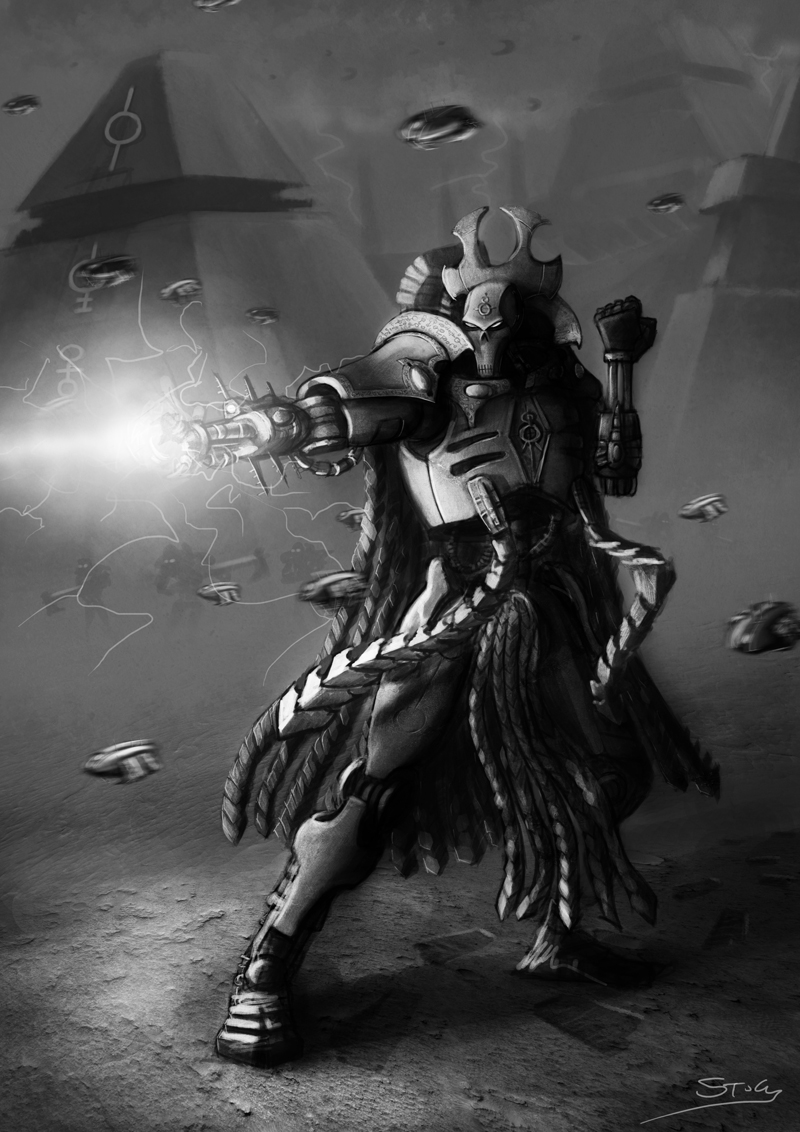 Wh40K: Necron Overlord by StugMeister