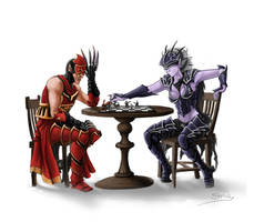 WM: Morghoul and Lylyth Play Chess by StugMeister