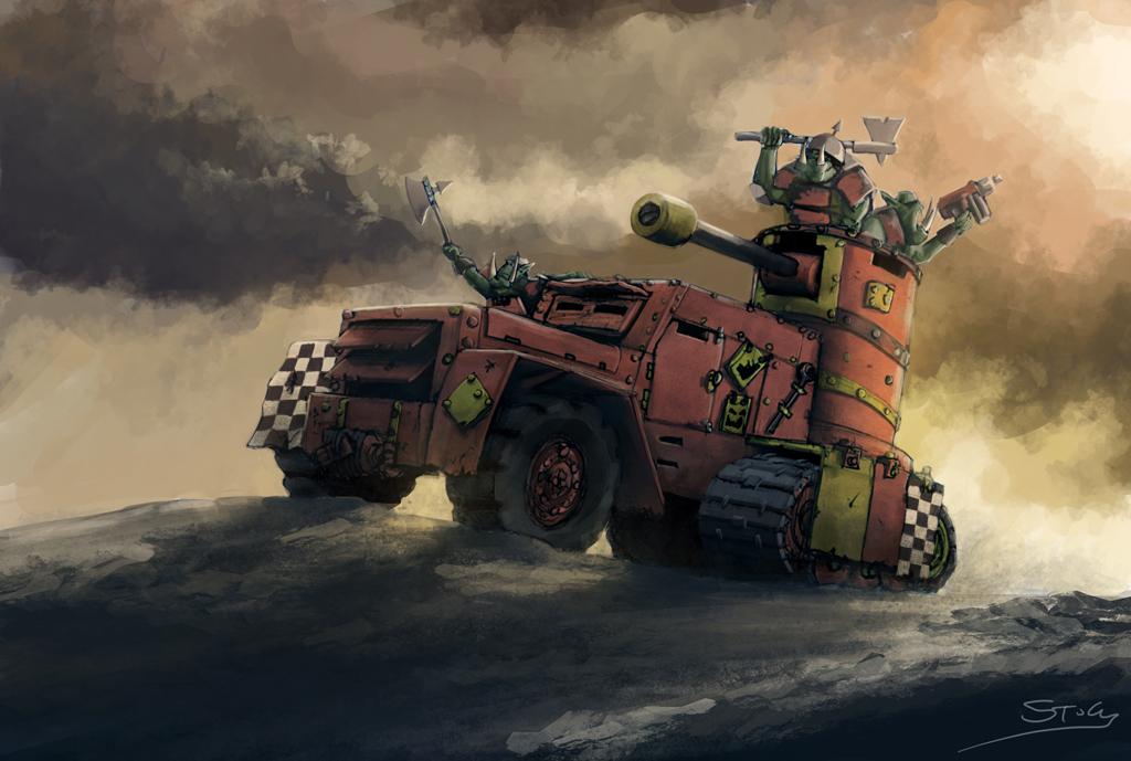 Wh40K: Ork Gunwagon by StugMeister