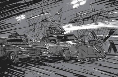 Gaslands Interceptor Impala Duel