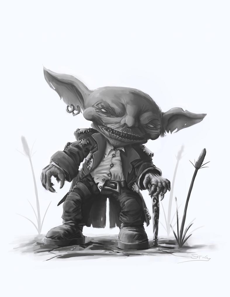 Pathfinder: Goblin Adventurer by StugMeister