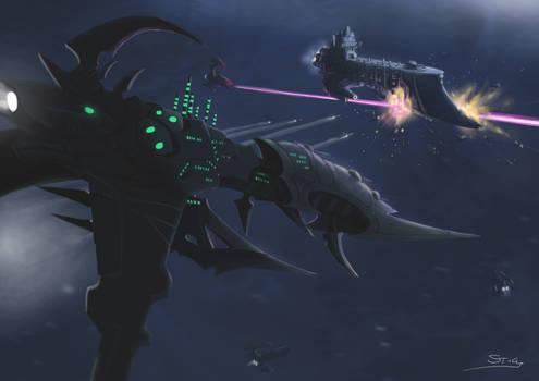 Wh40K: BFG Dark Eldar Cruiser