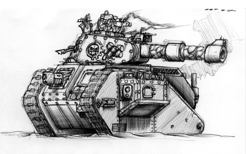 Adeptus Mechanicus Leman Russ by StugMeister
