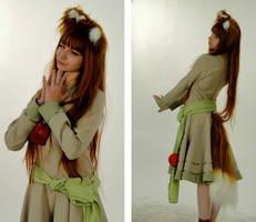 Holo in green dress by Vesta777
