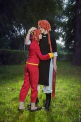 Kagura and Kamui (a little photoshoot) by Vesta777