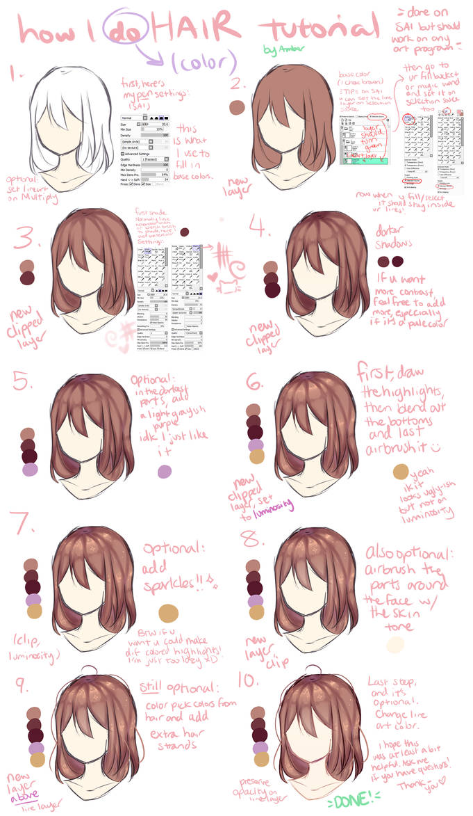 Hair Coloring Tutorial? by AmberArt259 on DeviantArt
