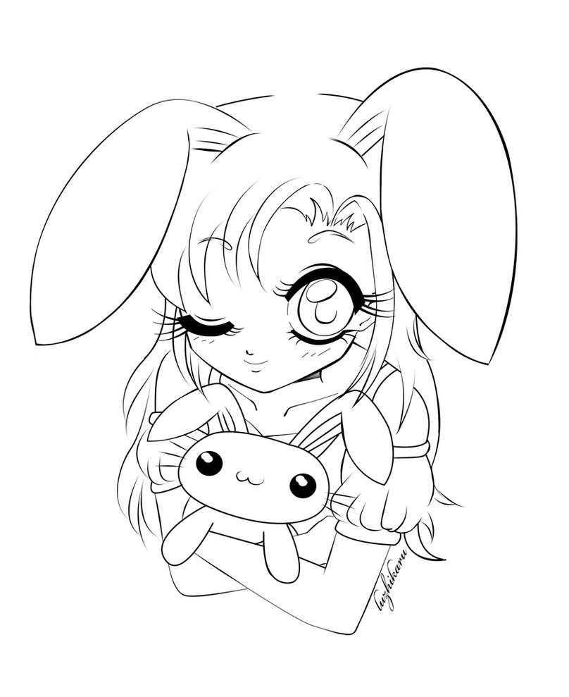 anime bunny coloring pages - photo#12