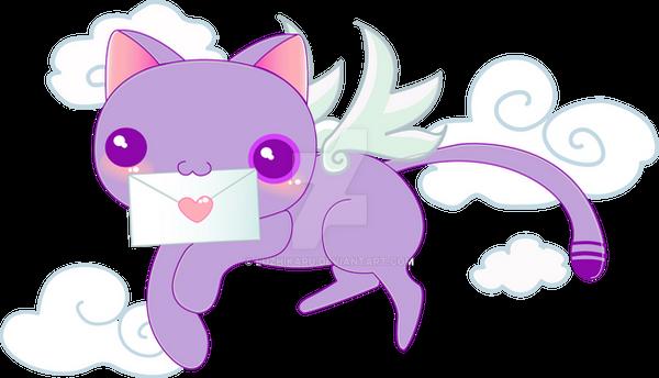 messenger cat by luzhikaru