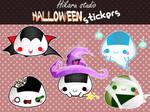 Halloween onigiris stickers by luzhikaru