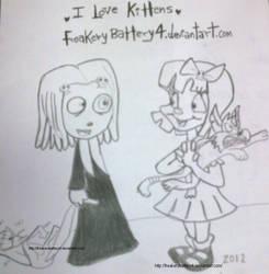 I love Kittens by Freakerybattery4
